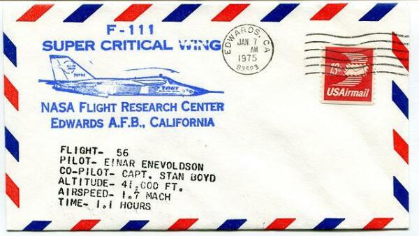 1975 F-111 Super Critical Wing - Flight Research Center Edwards California Nasa Emballage Fort