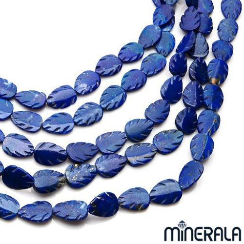 Natural Lapislázuli Forma De Hoja Tallado De Piedras Preciosas Perlas Strand