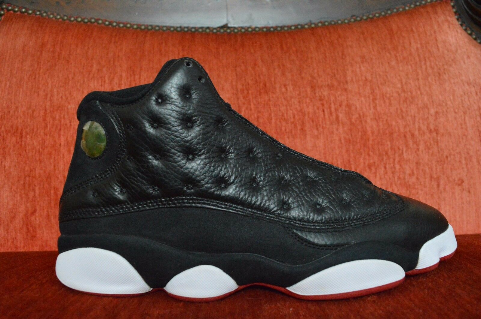 Nike Air Jordan XIII 13 Retro Nero/Red-White 2011 Playoffs 414571-001 Size 10.5