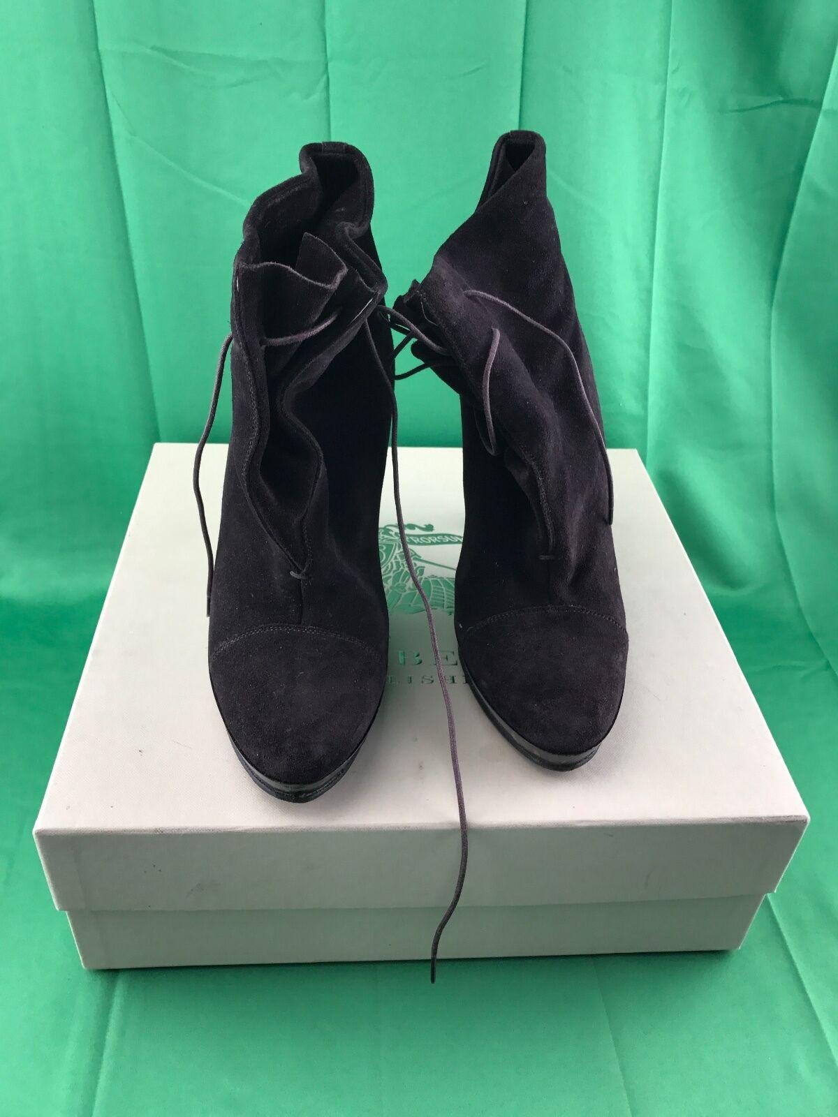 Burberry Prorsum Platform Lace Up Booties - Graceann High Heel