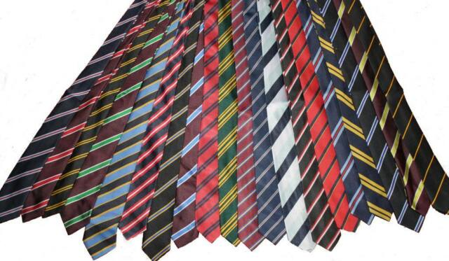 2.99 School Ties Many Colours Varieties STRIPES COLOURS FAST POST new