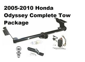 05 10 honda odyssey trailer hitch tow package w wiring 2 receiver 1 7 8 ball ebay. Black Bedroom Furniture Sets. Home Design Ideas
