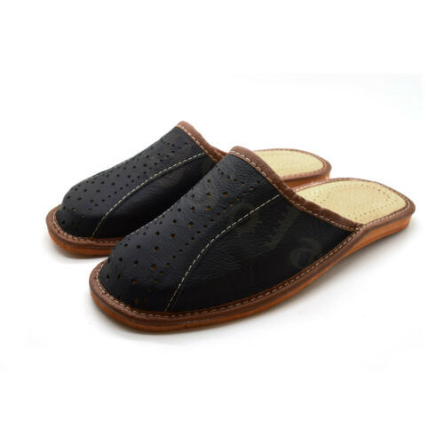 12 ML1 8 9 100/% Genuine Leather Men/'s Slippers Top Quality 6 11 10 7