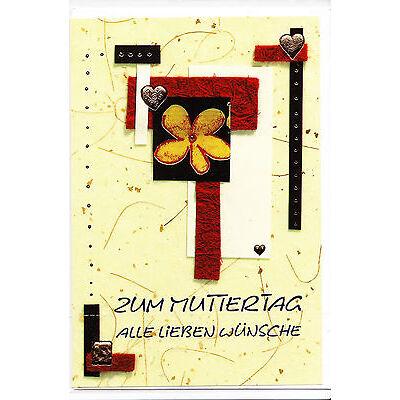 1 Glückwunschkarte Muttertag farb. Umschläge Grusskarten Geldkarte Karte 16-1400