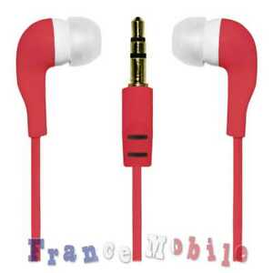 Casque-Ecouteur-Silicone-Pour-BQ-Doogee-Earphones-Jack-3-5-Auriculaires-Rouge
