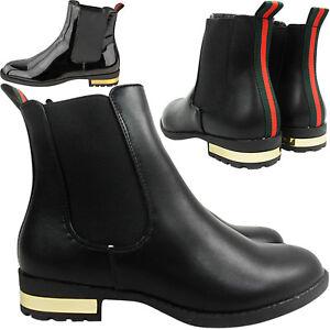 Look Blockabsatz Chelsea Knöchel Details Zu Damen Flach Stiefel Größe Riding Streifen f7gvb6yY