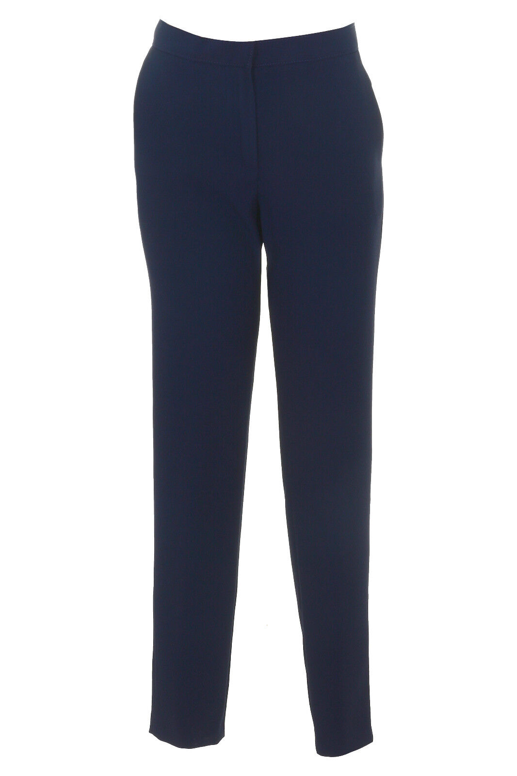 Busy Navy Narrow Leg Womens Trousers with Elastane