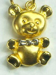 2 Cute Bear Paws, Pendant, Gold Colours:o