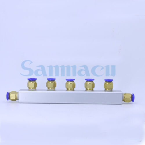 20x20mm Push Fit 8mm 2-6 Way 5-9 Port Pneumatic Fitting Manifold Block Splitter