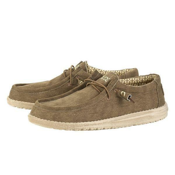 HEY DUDE MENS WALLY L NUT CASUAL SHOES