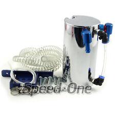 Car Engine Oil Catch Can Tank Filter Reservoir Kit 9mm polished Universal