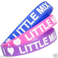 little mix wristband silicone bracelet / wrist band bangle gift fashion