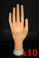 10pcs Practice Hand Mannequin Nail Art Designs Stand Flexiable Bendable Fingers