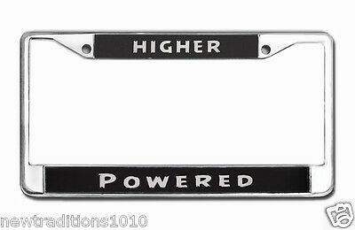 Recovery Program Zinc Chrome Plated License Plate Frame- Higher Powered