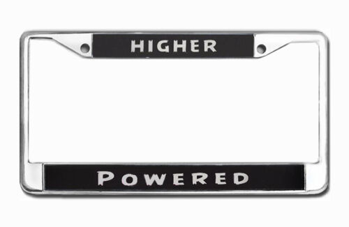 Higher Powered Recovery Program Zinc Chrome Plated License Plate Frame