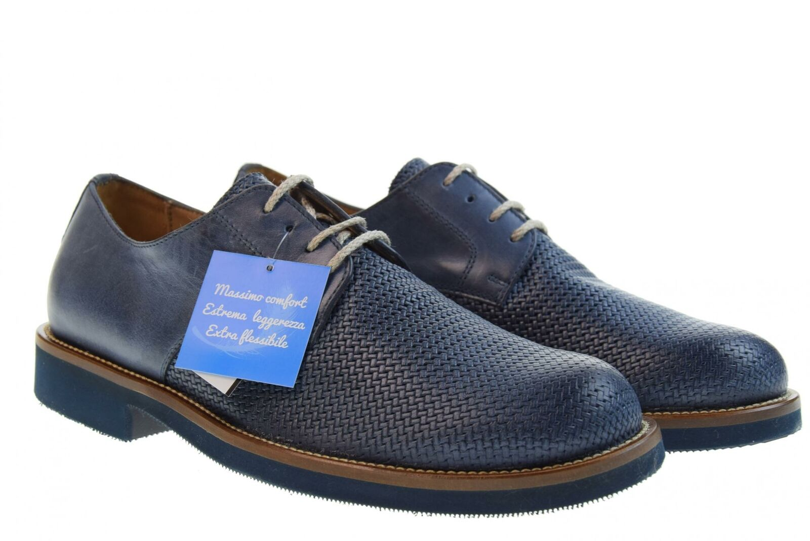 Antica Cuoieria shoes Man Classic 20795-s-v96 Icarus Printed bluee p19