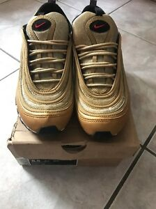 best service 7e669 11bc4 Image is loading NIKE-AIR-MAX-97-METALLIC-GOLD-RED-BLACK-
