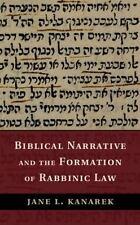 Biblical Narrative and the Formation of Rabbinic Law, Kanarek, Jane L., Very Goo