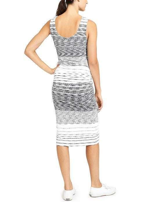 NWOT Athleta Stripe Midi Tank Dress, Neutral Stripe SIZE L      v v64