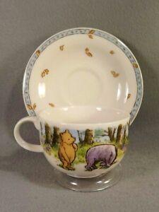 Royal-Doulton-Classic-Pooh-Eeyore-Autumn-Cup-Saucer-Boxed-Set-Porcelain-Unused