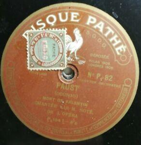Ref50-Vinyle-78-Tours-DISQUE-Pathe-Faust-mort-de-valentin-NP-82-benvenuto