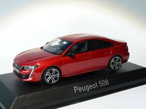 Rare-peugeot-508-gt-sedan-2018-red-ultimate-at-1-43-norev-4758201
