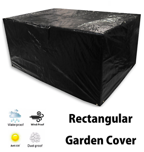 Tavolo DA GIARDINO RETTANGOLARE Cover Resistente /& Lavabile Giardino Custodia Nero 152x104x71cm