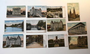 LOT-OF-12-ALBANY-NEW-YORK-NY-ANTIQUE-POSTCARDS