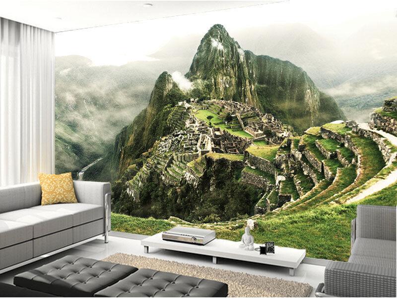 3D Incas Lost City Machu Picchu Full Wall Mural Photo Wallpaper Print Home Decor