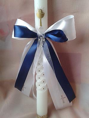 Kommunion,Taufe,Tropfschutz,Kerzenschleife,Kerzenschmuck,Geburt,Baby,Kreuz weiß