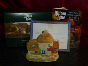 LILLIPUT-LANE-Little-Scrumpy-L2395-Membership-2001-2-Thatched-Cottage-Box-deeds