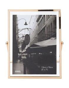 NEW Vue Abbie Gold Glass 13x18cm Photo Frame