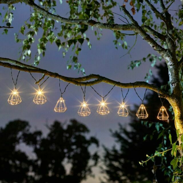 Geo Solar String Lights 10 Led Outdoor, Best Outdoor Solar String Lights For Trees