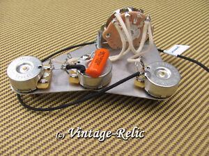 upgrade wiring kit pre wired fits fender stratocaster orange drop cap cts pots ebay. Black Bedroom Furniture Sets. Home Design Ideas