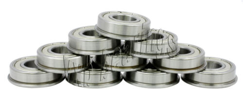 10 Flanged Bearing Lot F693ZZ 3x8x4 VXB Bearings