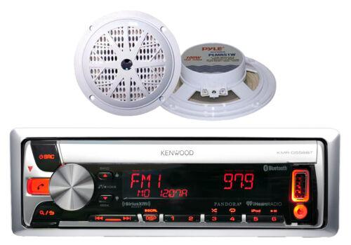 "KMR-D562BT Kenwood Boat Car CD//MP3 USB AM//FM Radio 2x-100W 5.25/"" White Speakers"