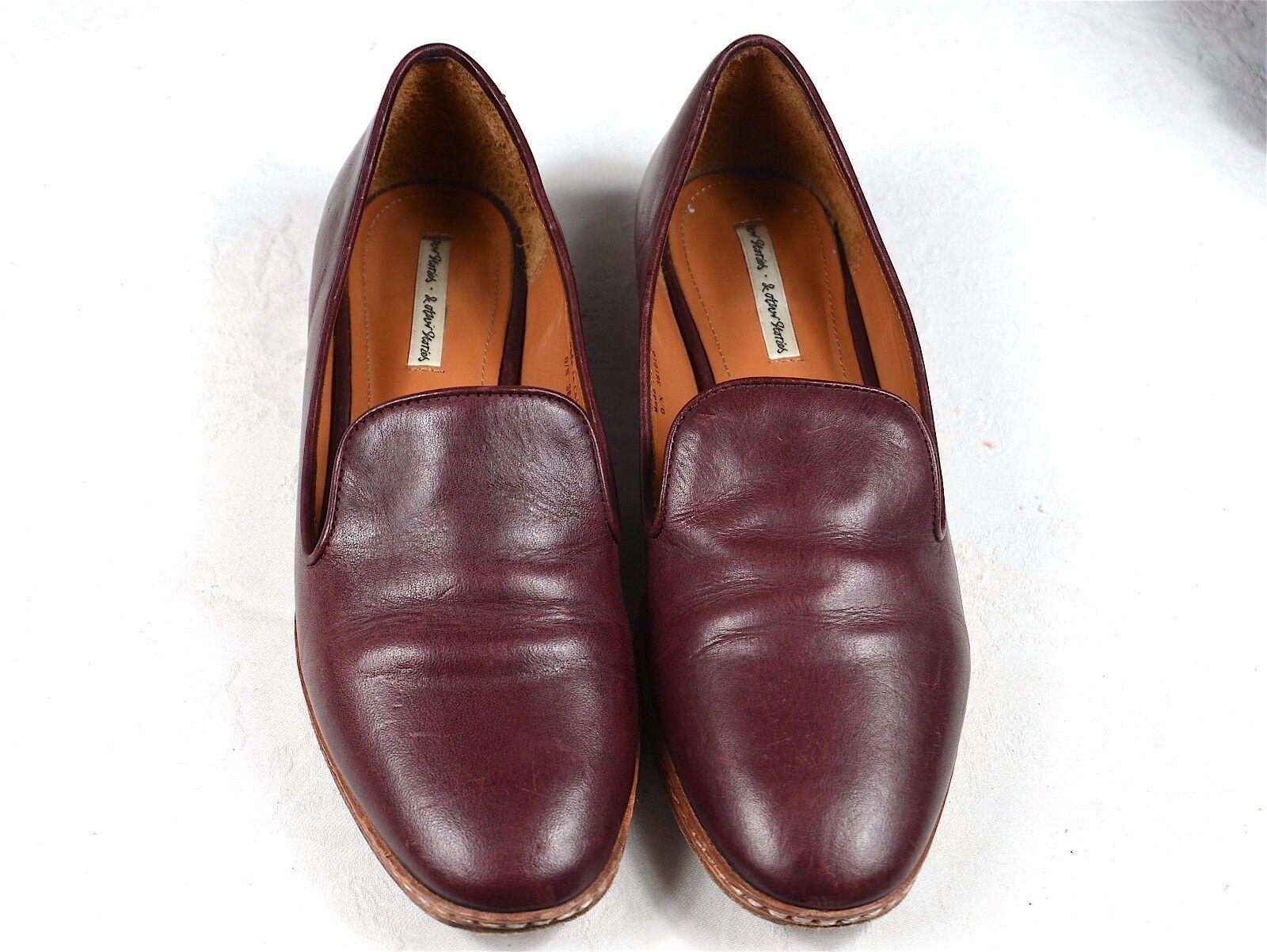 Cómodo y bien parecido Descuento por tiempo limitado Mocassins bordeaux en cuir & Other Stories. Leather burgundy loafers slippers.