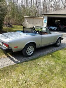 1982 Fiat Spyder convertible 5 speed 53000 miles