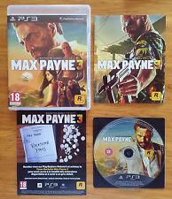 Max Payne 3 PS3 / FR intégral / blu-ray zero rayure / envoi gratuit