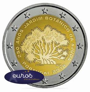 Piece-2-euros-commemorative-PORTUGAL-2018-Jardin-Botanique-d-039-Ajuda-UNC