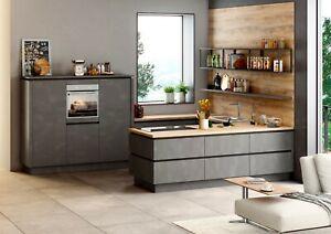 Details zu Einbauküche Schüller Targa in K585 grifflos Arbeitsplatte Fichte  Rustico