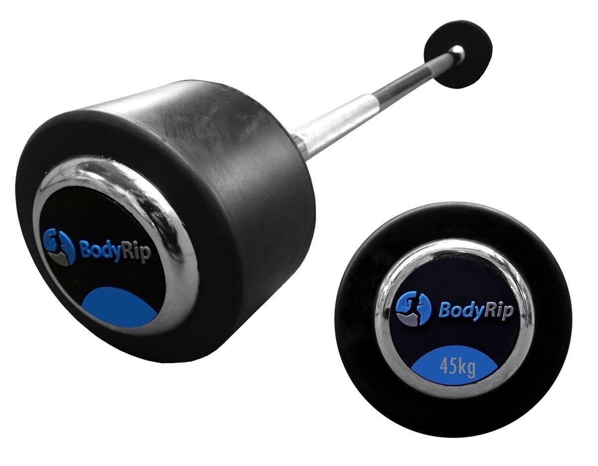 Elite-Style Barbell Droit Fixé Ensemble de Poids 45kg │ Maison Gym Fitness par