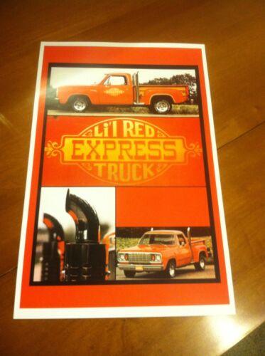 Vintage Lil Red Express Dodge Truck  Poster Mopar Ad Home Art Man Cave Z614