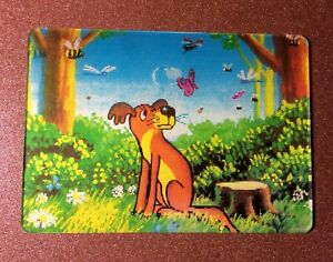 Details about 3D Stereo lenticular USSR Pocket Calendar 1990 There was a  dog  Forest  Insects