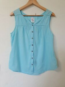 Mantaray-Azul-En-Relieve-Relaxed-Fit-Chaleco-Top-Talla-14
