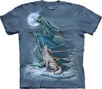 New DRAGON WOLF MOON T Shirt