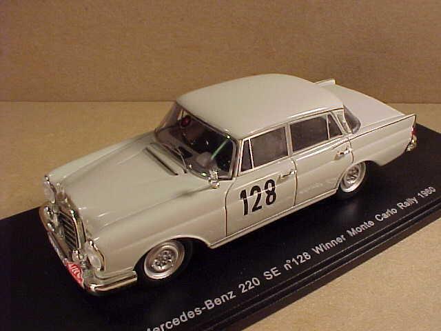 Spark 1/43 Resin Mercedes-Benz 220 SE, #128 Winner 1960 Monte Carlo Rally #S1004