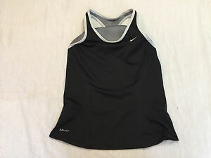 3493f604bfd8f NIKE DRI FIT WOMENS ATHLETIC TANK TOP WITH BUILT BRA SIZE M