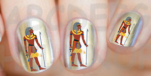 60x Water Decals Faraone Egitto Unghie Nail Art Adesivi Egyptian