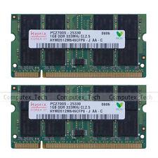 New Hynix 2GB (2x 1GB) PC2700 DDR333 333Mhz DDR1 200pin SODIMM Laptop Memory RAM